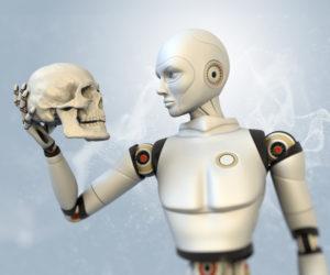 The-skeleton-of-the-robot-Stock-Photo